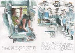 Cédric dans le train