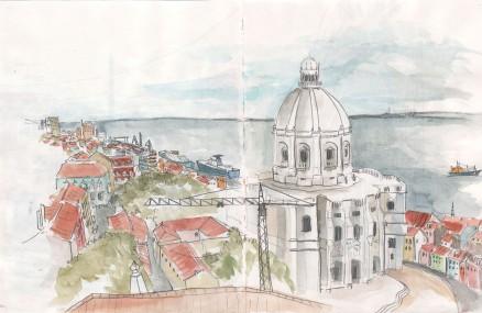Le quartier de l'Alfama vu du toit de l'église São Vicente de Fora