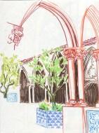 Un cloître du Convento de Cristo de Tomar